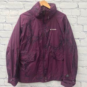 Columbia Ladies Purple Pattern Spring Jacket